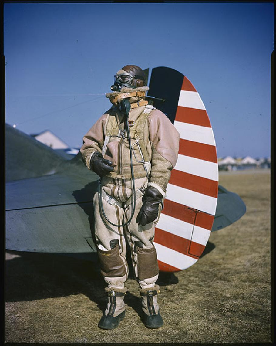 Rudy Arnold Photograph of Lt. Gilbert L. Meyers in Flight Gear