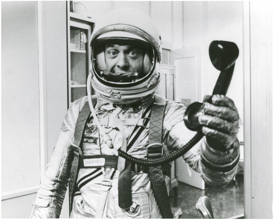Alan Shepard with Telephone
