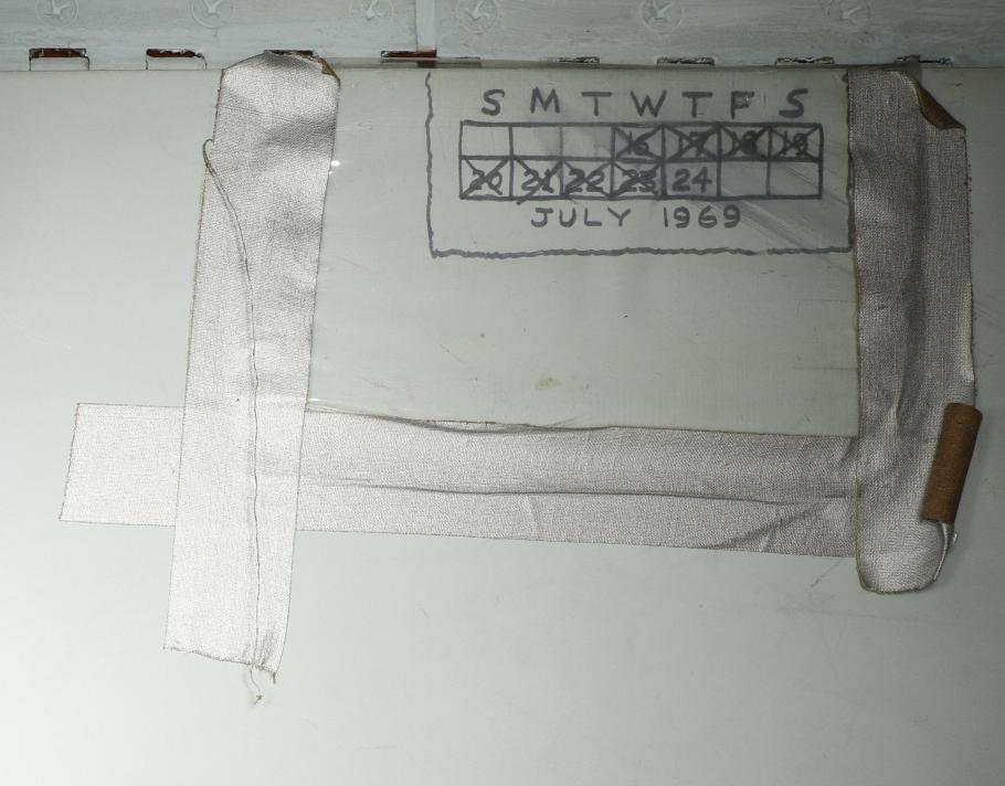 Calendar inside the Apollo 11 Command Module