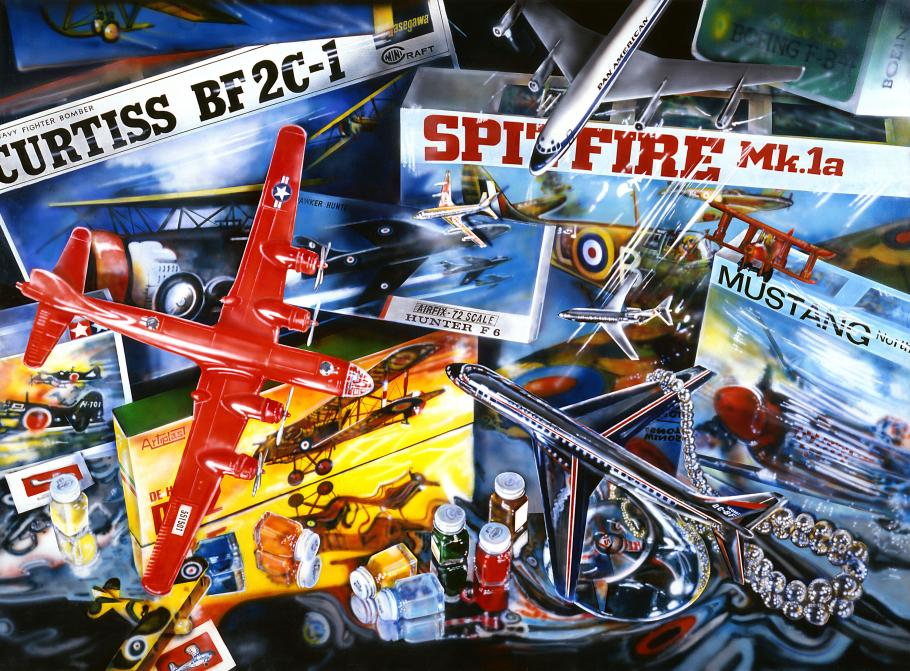 Spitfire by photorealist painter Audrey Flack