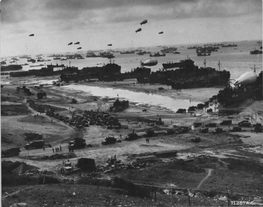 Barrage Balloons at Normandy
