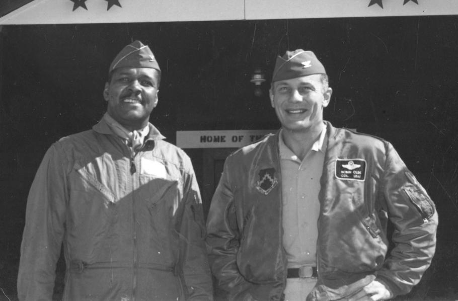 Two men in flight jackets