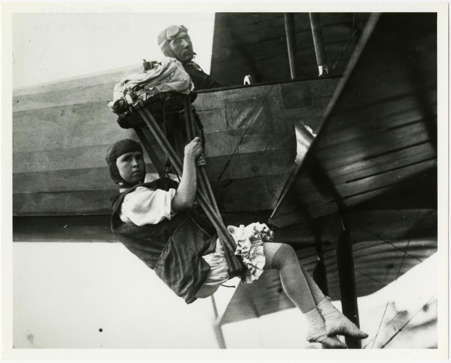 Tiny Broadwick Hanging From Plane