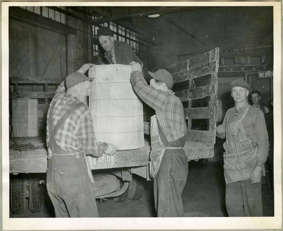 Unloading Turkeys from Truck