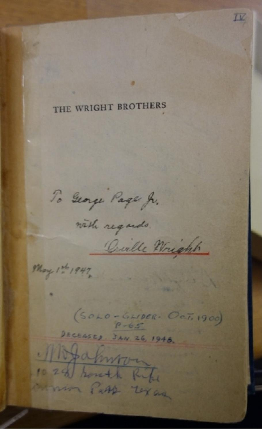 Orville Wright Autograph