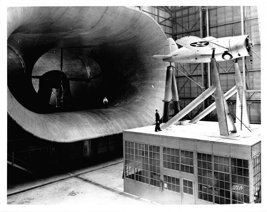 aircraft in wind tunnel