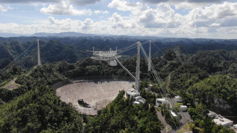 The telescope at Arecibo