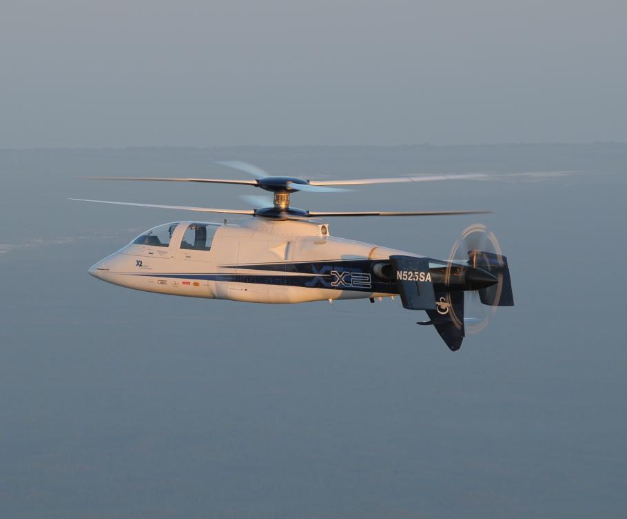 An X2 in flight.