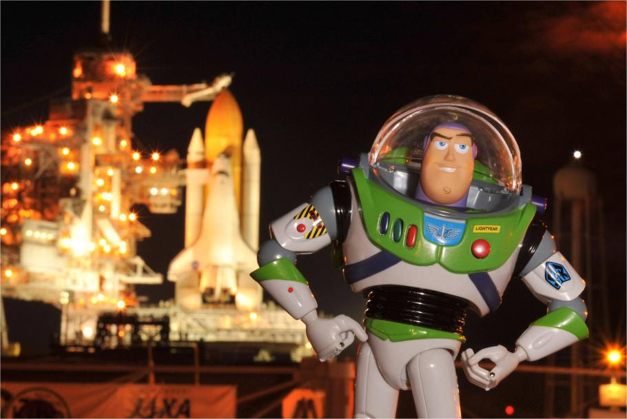 Buzz Lightyear at the Launch Pad