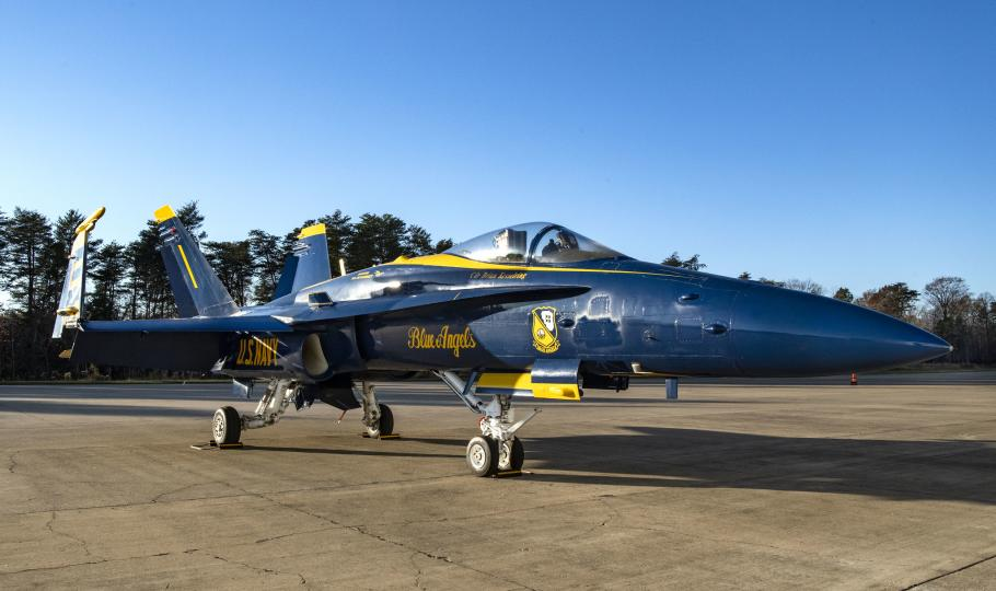 The F/A-18C Hornet's last stop as it joins the National Air and Space Museum