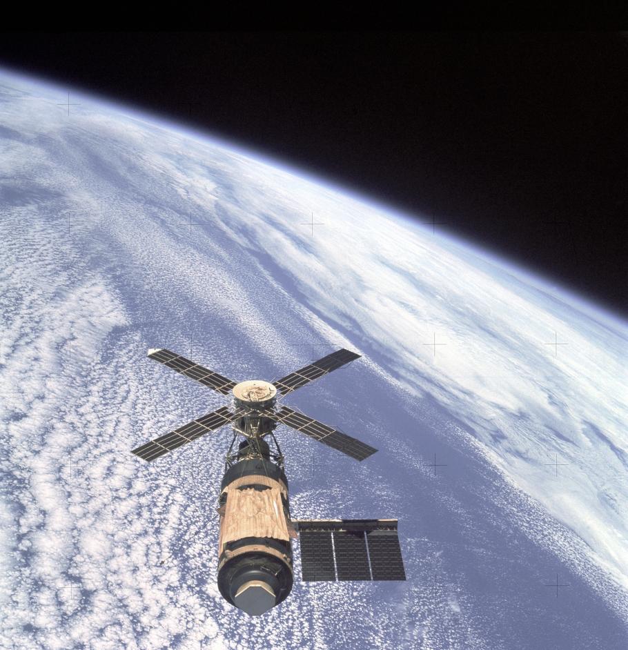 Skylab Orbital Workshop in Orbit
