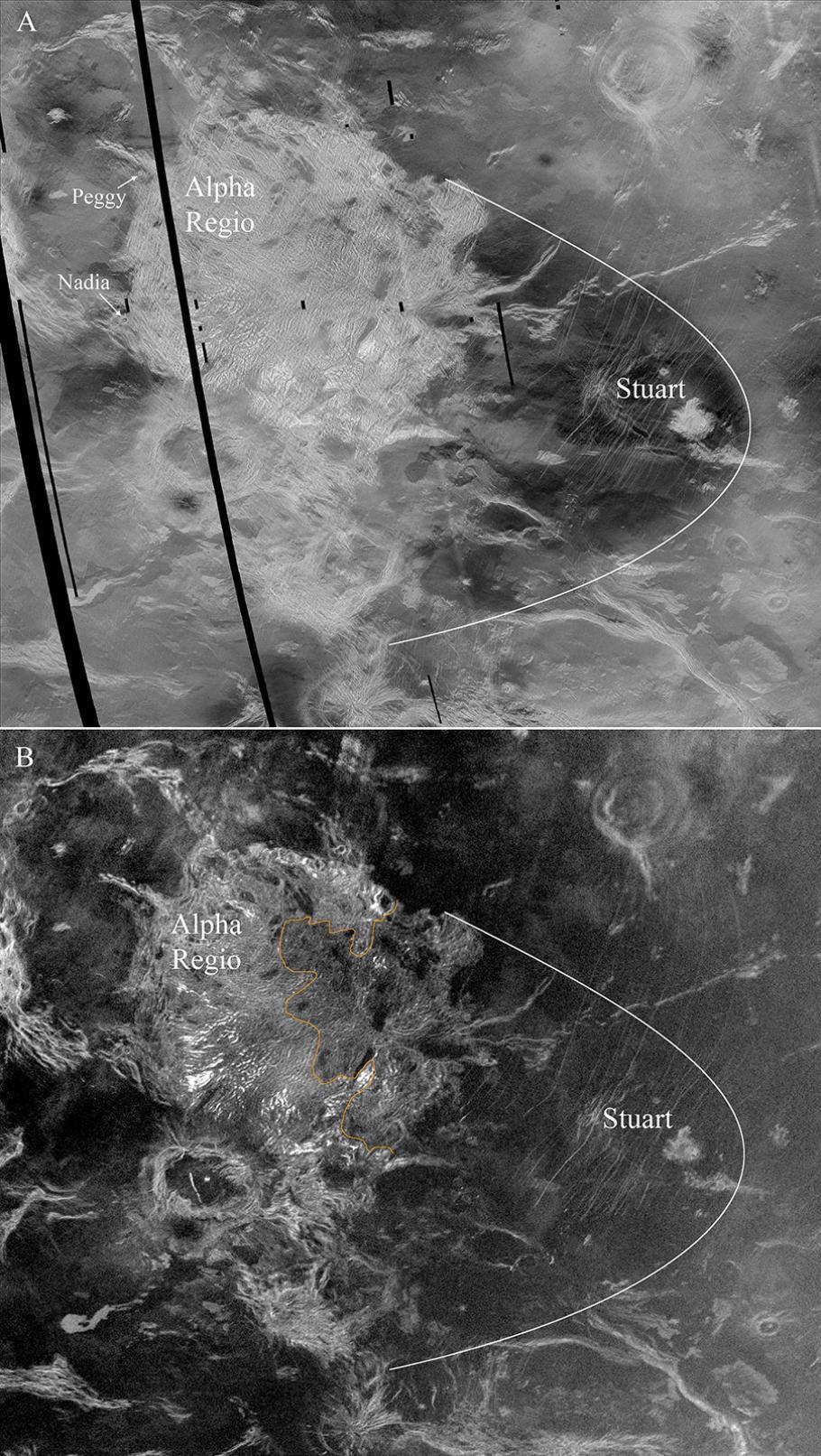 Alpha Regio on Venus