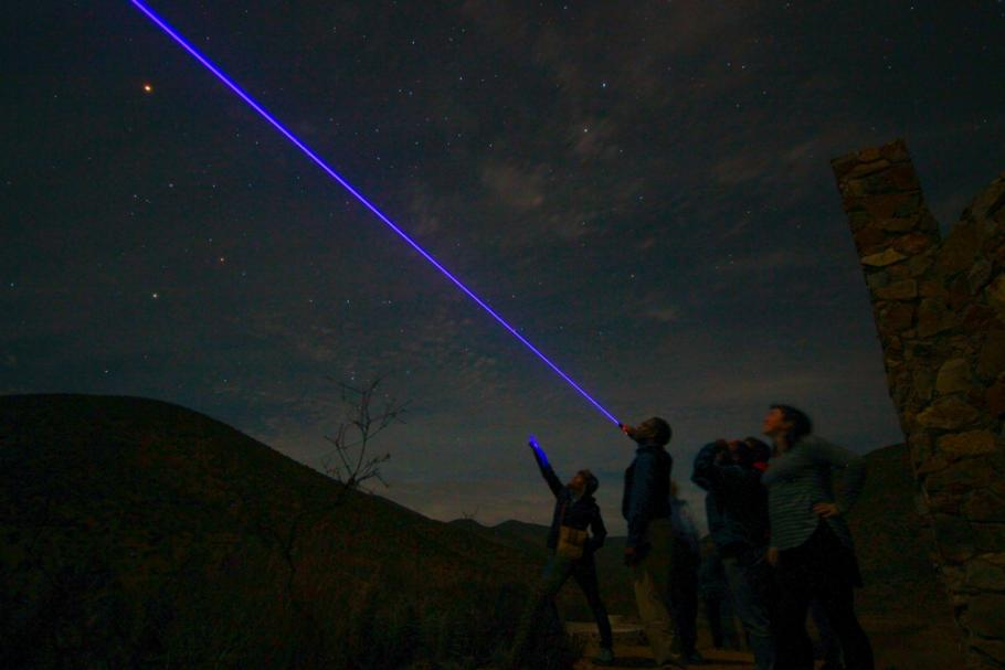 Astronomy education ambassadors stargazing in Chile