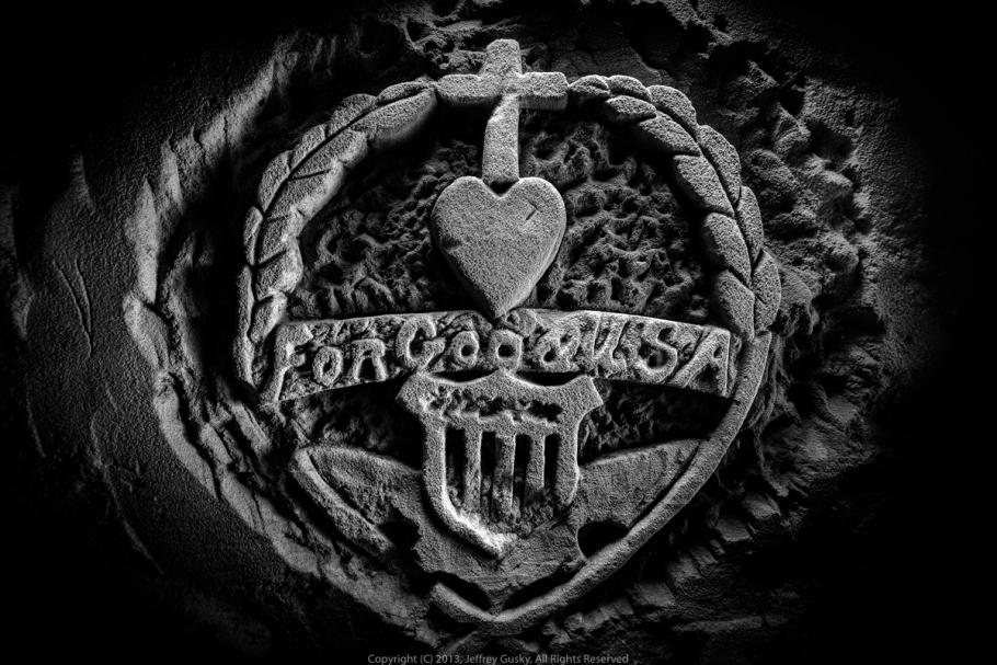 Carving with heart.