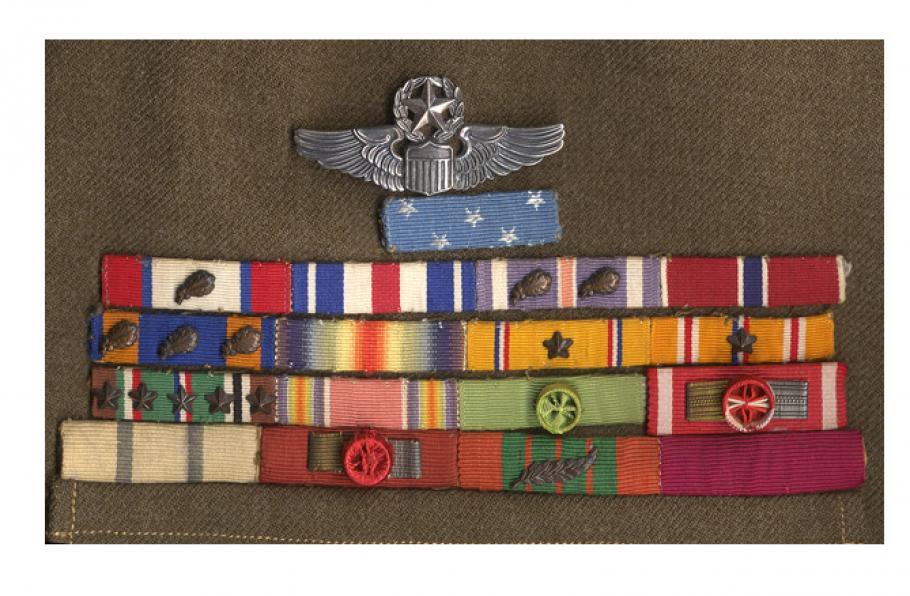 Lt. Gen. Jimmy Doolittle's Medal of Honor ribbon on his wartime uniform.