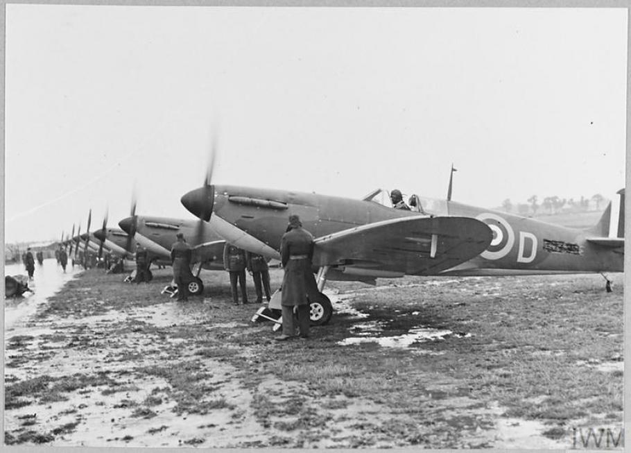 rows of spitfires