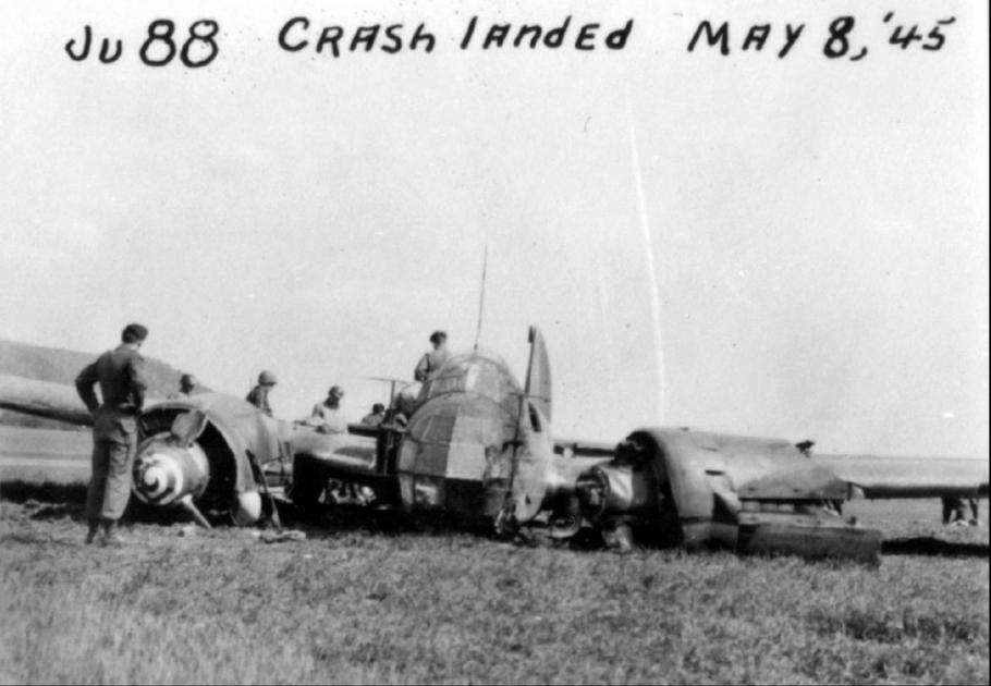 crashed Junkers Ju 88