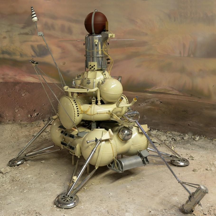 Luna 16 spacecraft model Museum of Cosmonautics in Moscow