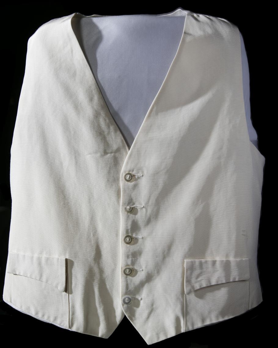 Gene Kranz's white Apollo 13 Vest with pockets
