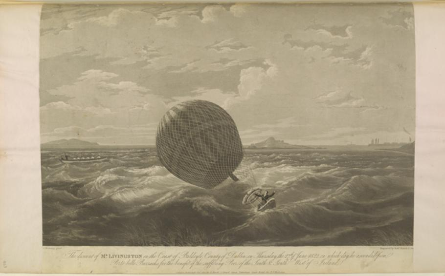 Illustration from William Upcott's Scrapbook of Early Aeronautica