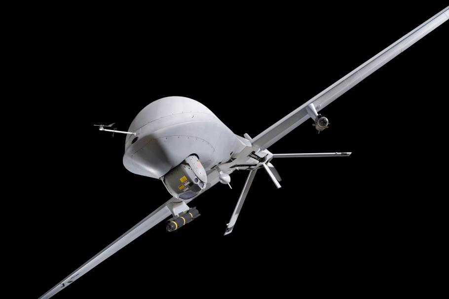 MQ-1L Predator A on display in the Military Unmanned Aerial Vehicles exhibition