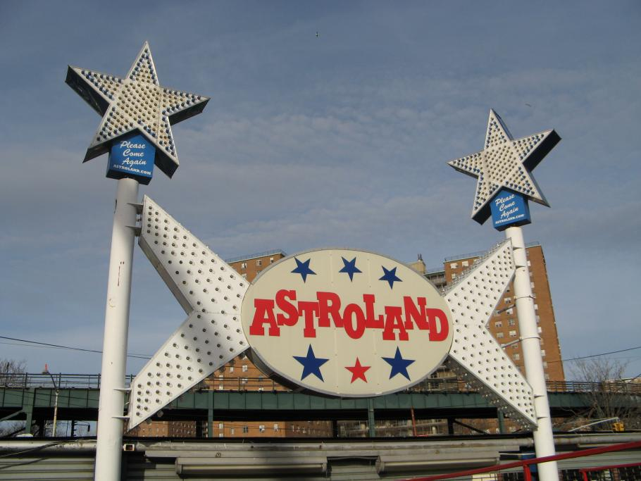 Astroland Entrance Sign