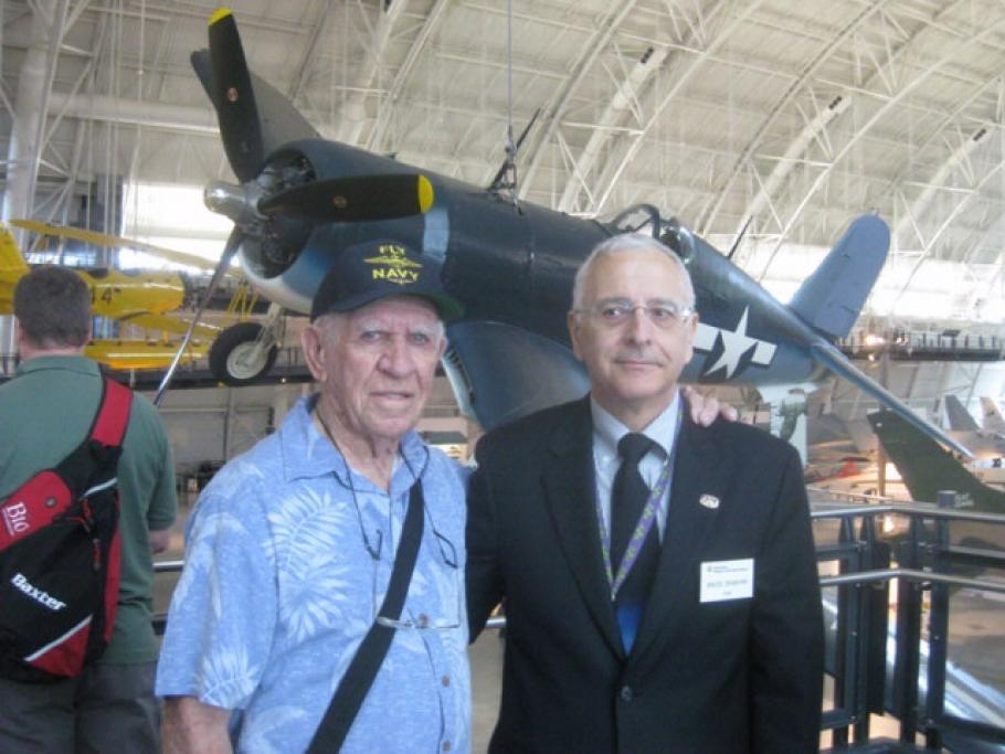 Veteran F4-U Corsair Pilot Jim Henry and Museum Docent Bruce Cranford