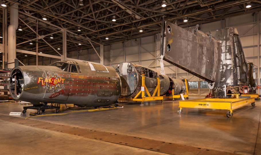 "\""Flak-Bait\"" in Restoration Hangar"
