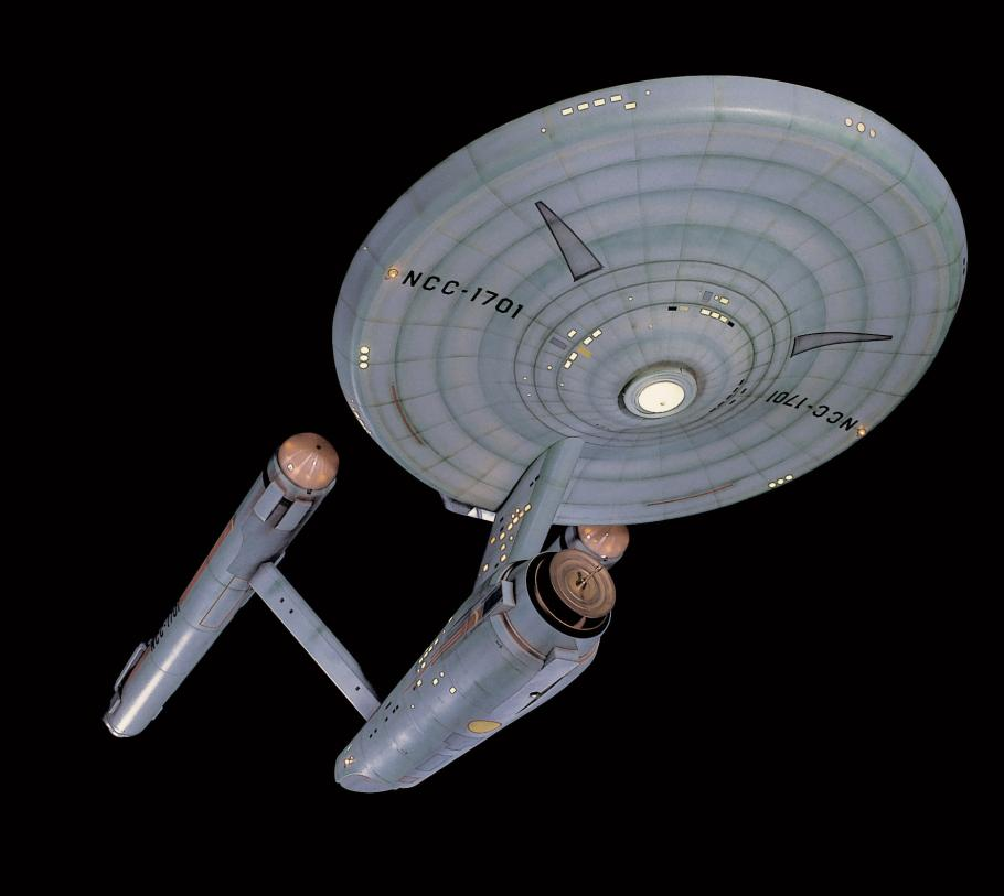 <em>Star Trek</em> starship <em>Enterprise</em> Studio Model