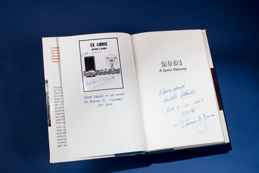 Signed 2001 A Space Odyssey Book Flown on Space Shuttle Atlantis