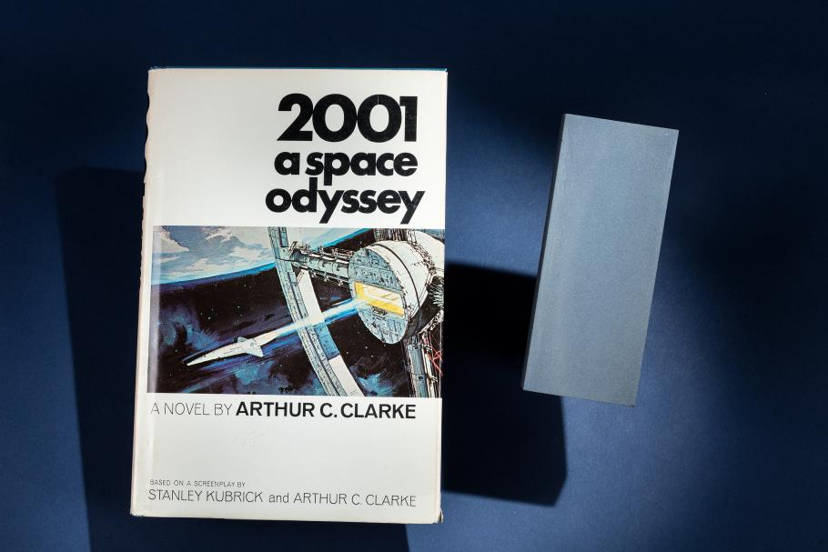 Signed Copy of 2001 A Space Odyssey and 'Monolith' Flown on Space Shuttle in 2001