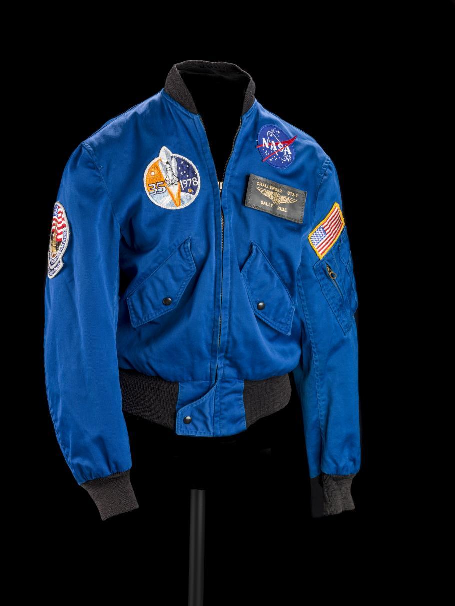 View of Sally Ride's Flight Jacket