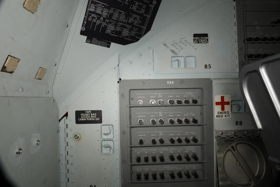 Writing inside the Apollo 11 Command Module