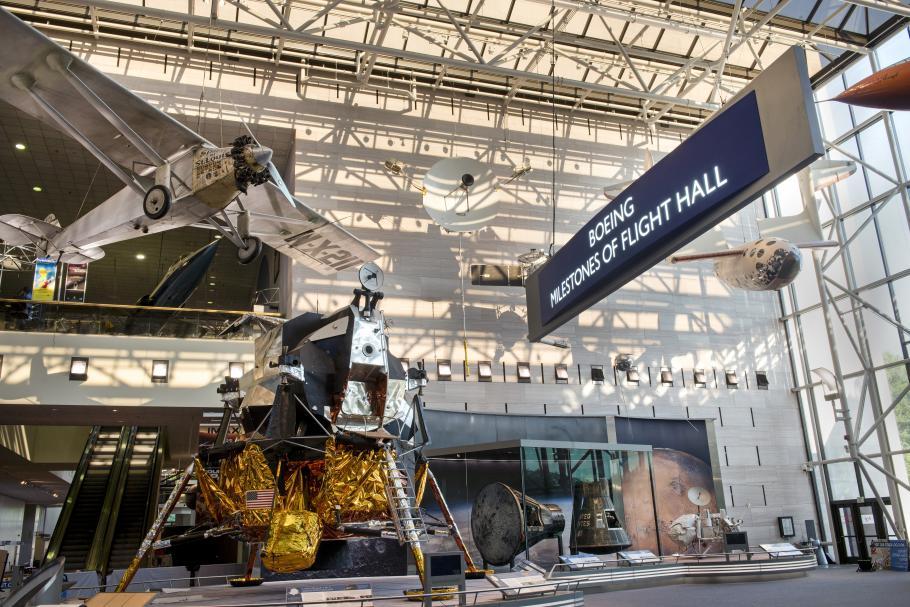 The newly renovated Boeing Milestones of Flight Hall