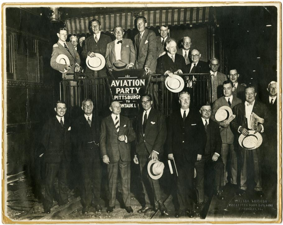 A photo of a group of prominent Pittsburgh businessmen, 1928.