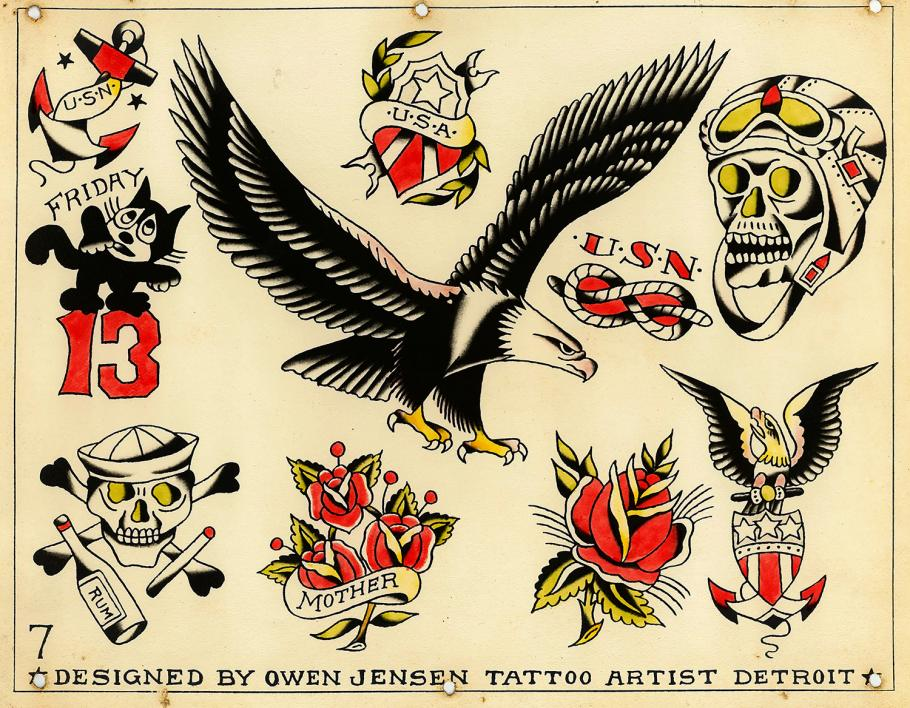 Tattoo flash art by Owen Jensen