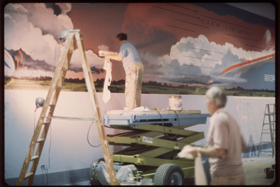 Eric Sloane Mural in Golden Age of Flight