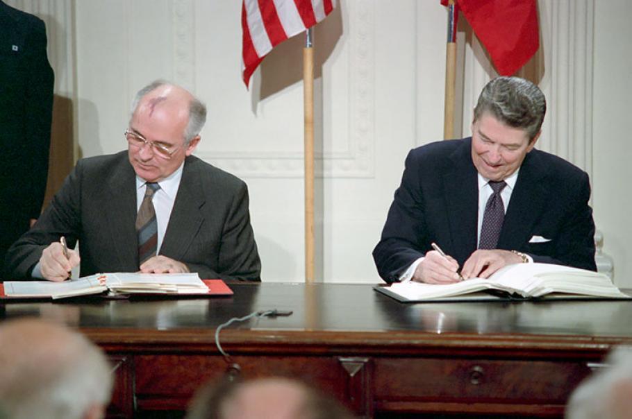 INF Treaty Signing