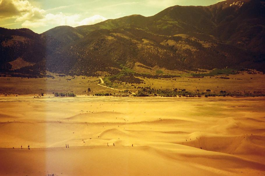 Filtered landscape of the Great Sand Dunes in Colorado