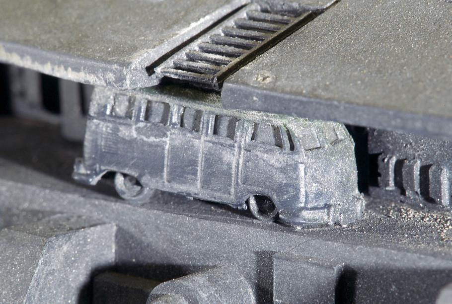 Gray model of a VW bus.