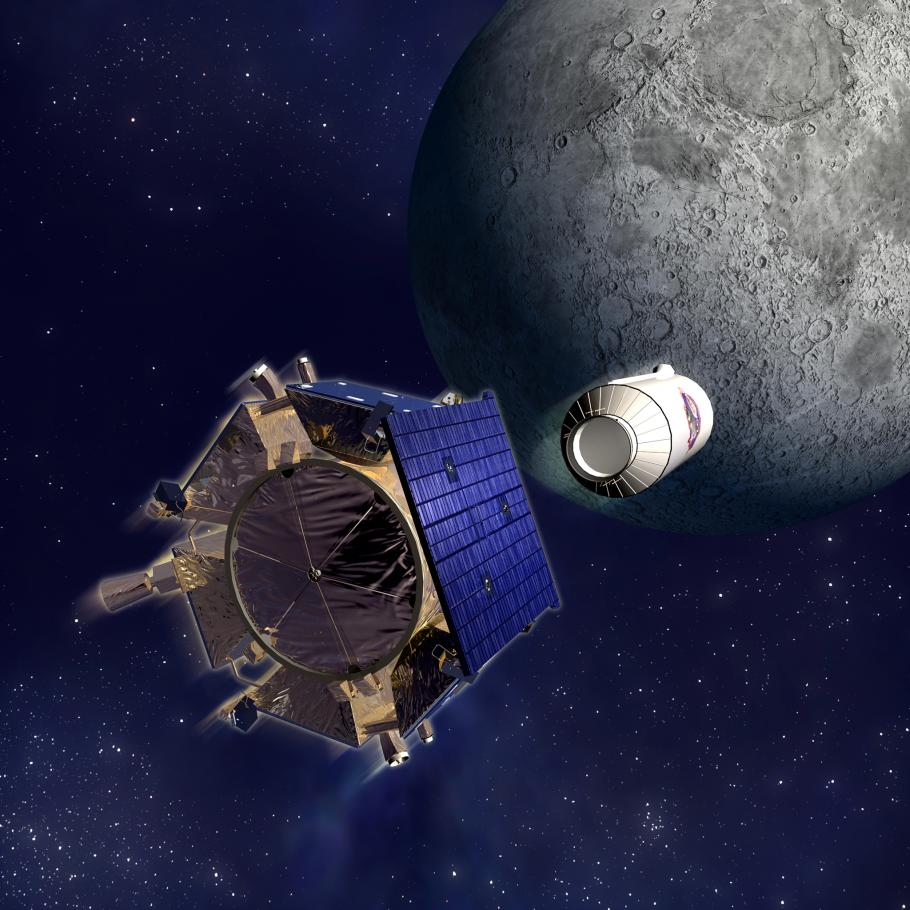 The Lunar CRater Observation and Sensing Satellite (LCROSS) spacecraft