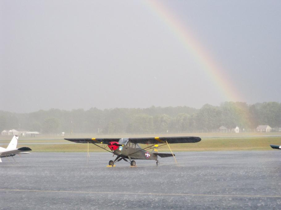 L-2 surrounded by a rainbow