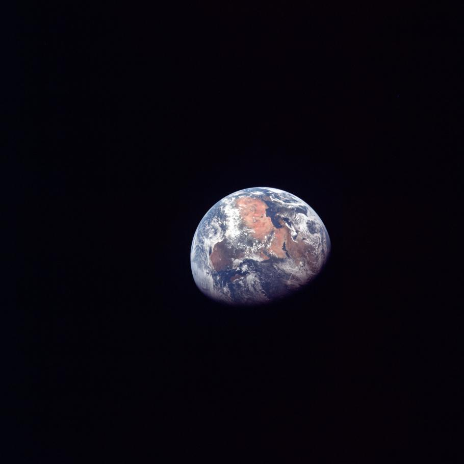 Earth isolated against a black background.