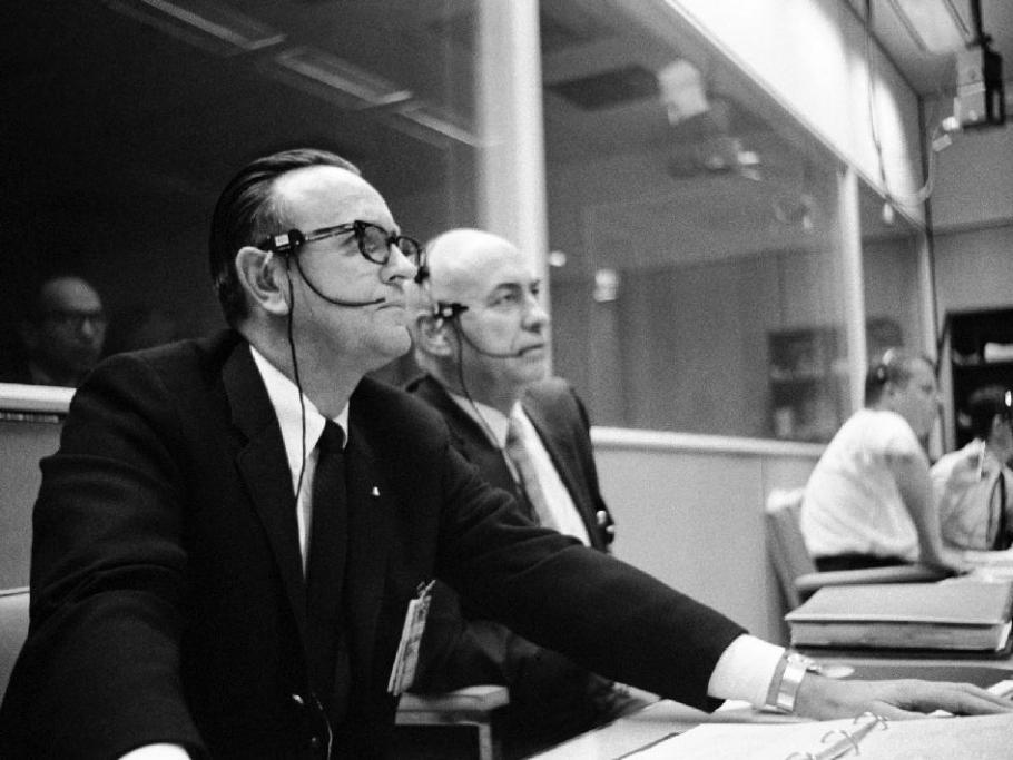 Two men at desk