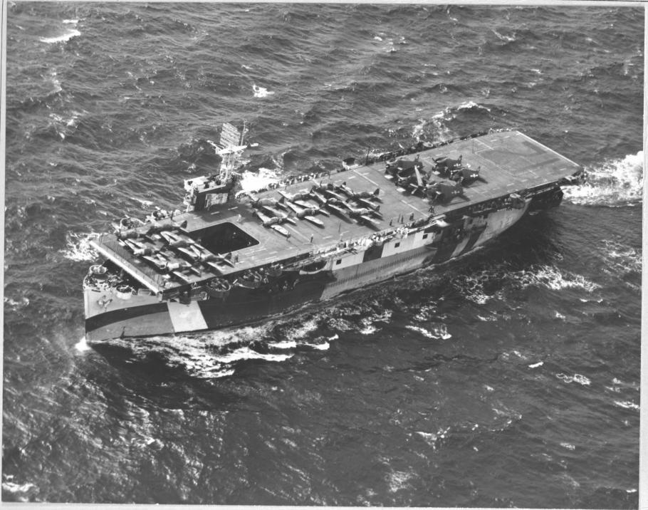widest of aircraft carrier with multiple aircraft