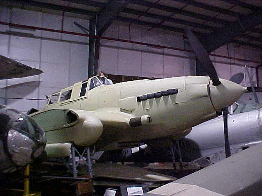 Shot of the aircraft's nose and cockpit while in storage.