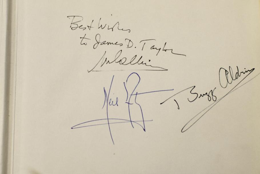 Close up of signatures.