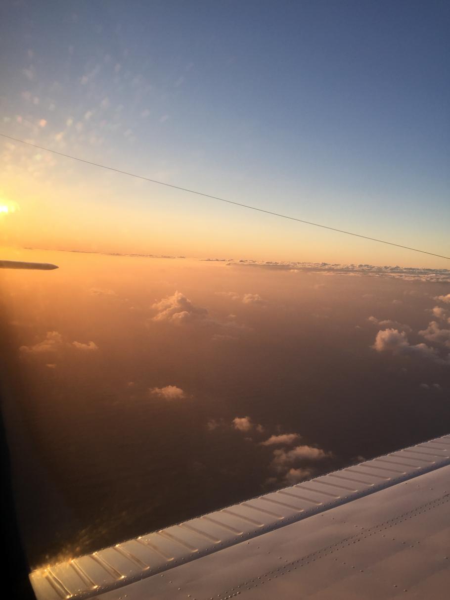 Flying above the Atlantic Ocean, as sen from aesta Wai's Aircraft