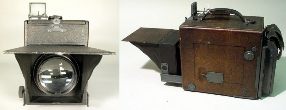 Camera used by Lindbergh to take aeriel photographs