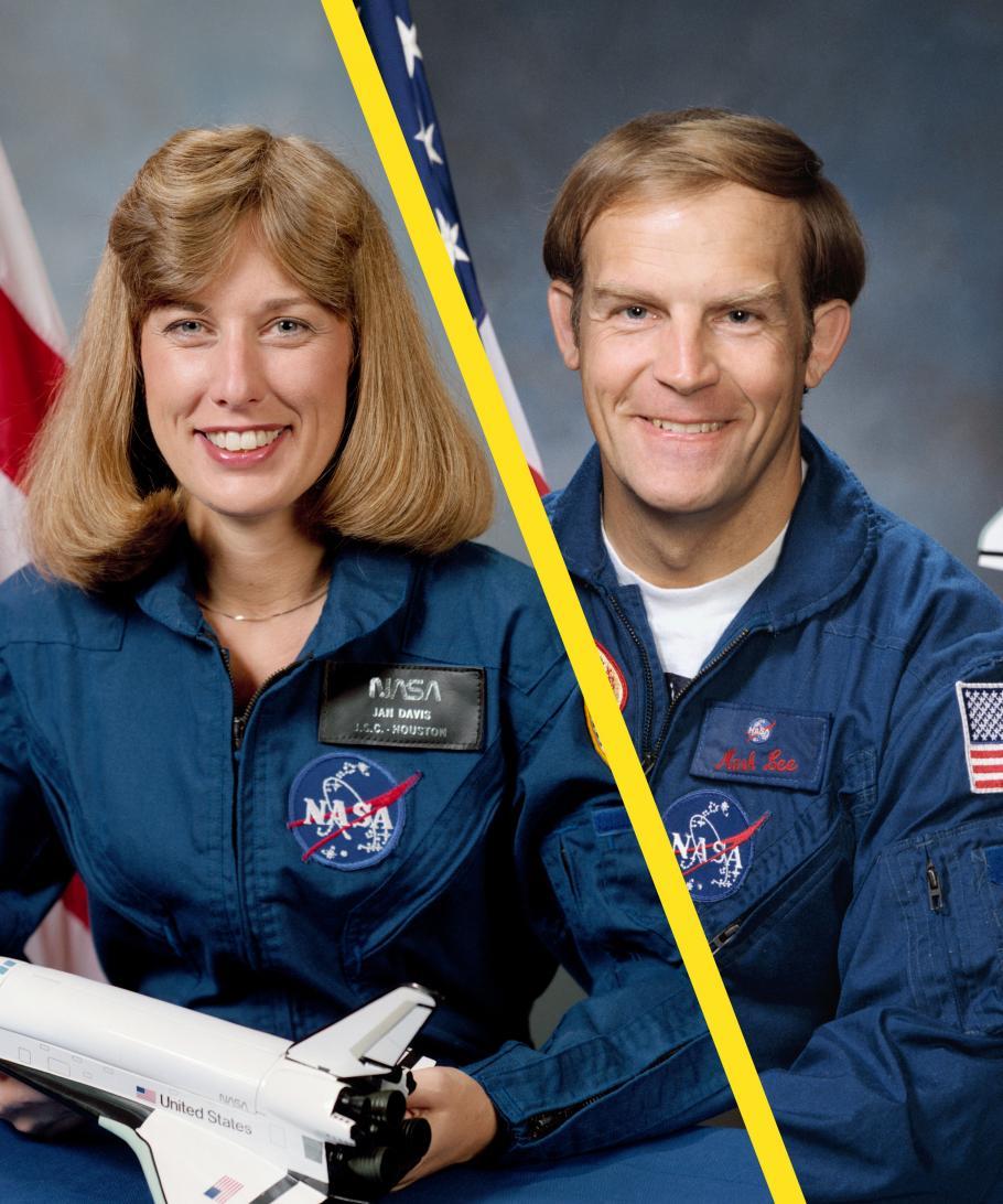 NASA AstronautsMark Lee and Jan Davis.